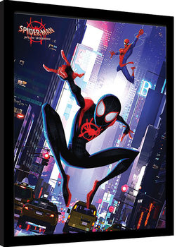 Spider-Man: Into The Spider-Verse - Swing Poster Incorniciato