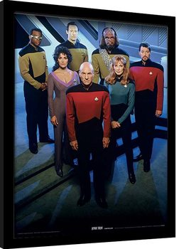 Star Trek: The Next Generation - Enterprise Officers Poster Incorniciato