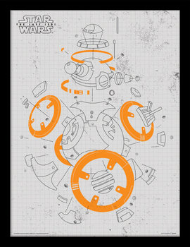 Star Wars: Gli ultimi Jedi - BB-8 Exploded View Poster Incorniciato