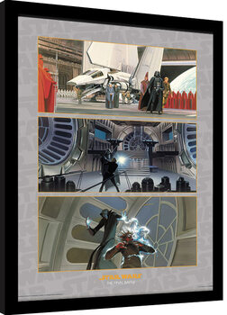 Poster incorniciato Star Wars - The Final Battle