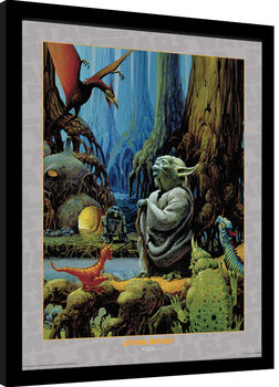 Poster incorniciato Star Wars - Yoda