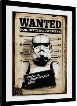 Poster incorniciato Stormtrooper - Mug Shot