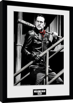 The Walking Dead - Negan Stairs Poster Incorniciato