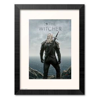 Poster incorniciato The Witcher - Geralt Backwards