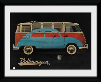 VW Camper - Paint Advert Poster Incorniciato