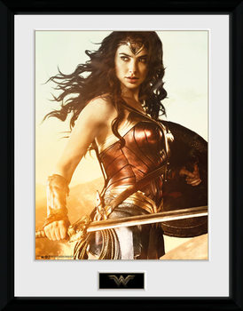 Poster incorniciato Wonder Woman - Sword