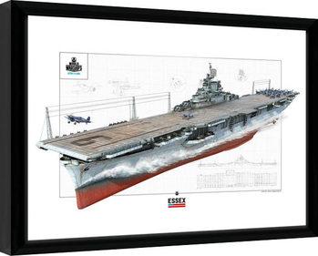 World Of Warships - Essex Poster Incorniciato