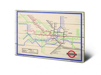 Poster su legno London Transport