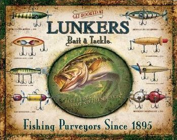 LUNKER'S LURES Metalen Wandplaat