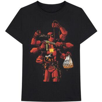 Maglietta Marvel - Deadpool Arms