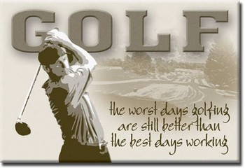 GOLF - best days Magnet