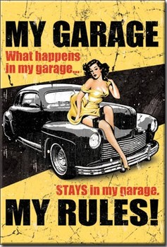 MY GARAGE - my rules Magnet