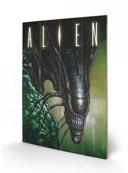 Målning på trä Alien - Creep