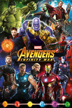 Avengers: Infinity War – Characters Inramad poster