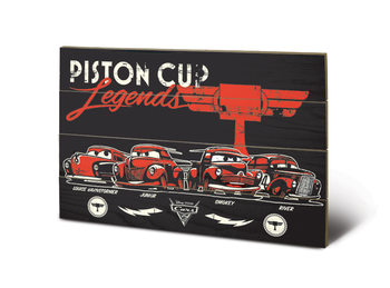 Tavla i trä  Bilar 3 - Piston Cup Legends