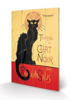 Målning på trä Chat Noir