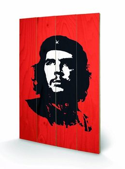 Målning på trä Che Guevara - Red