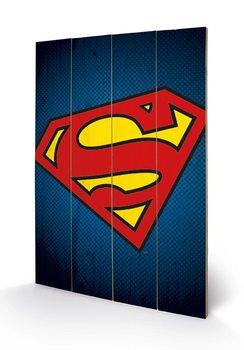 Målning på trä DC Comics – Stålmannen Symbol