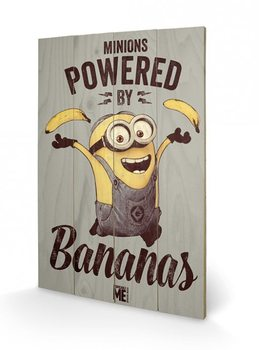 Målning på trä Despicable Me (Dumma mej) - Powered by Bananas