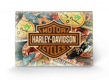 Tavla i trä HARLEY DAVIDSON - logo