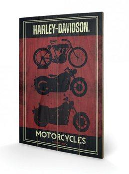 Tavla i trä HARLEY DAVIDSON - motorcycles