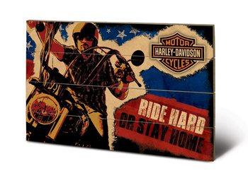 Tavla i trä HARLEY DAVIDSON - ride hard