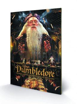 Tavla i trä Harry Potter - Dumbledore