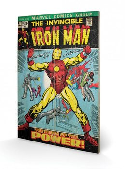 Målning på trä Iron Man - Birth Of Power