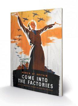 Tavla i trä IWM - come into the factories