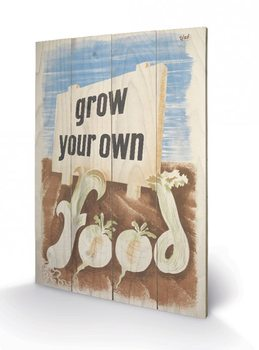 Tavla i trä IWM - grow your own food