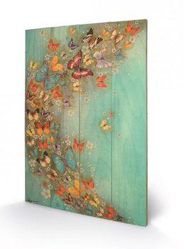 Målning på trä Lily Greenwood - Chinese Green