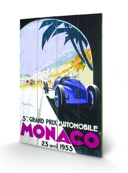 Målning på trä Monaco - 1945