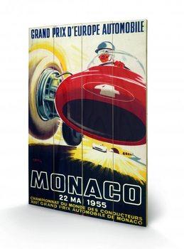 Målning på trä Monaco - 1967