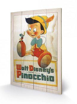 Tavla i trä Pinocchio - Conscience