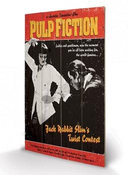 Tavla i trä Pulp Fiction - Twist Contest