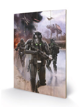 Målning på trä Rogue One: Star Wars Story - Death Trooper Beach