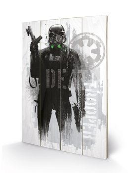 Målning på trä Rogue One: Star Wars Story - Death Trooper Grunge