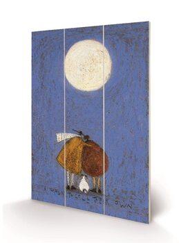 Tavla i trä Sam Toft - A Moon To Call Their Own