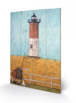 Tavla i trä  Sam Toft - Feeling the Love at Nauset Light