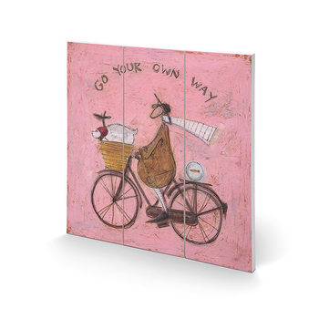 Tavla i trä Sam Toft - Go Your Own Way