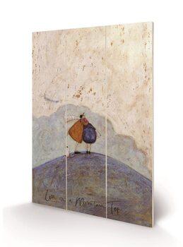 Tavla i trä Sam Toft - Love on a Mountain Top