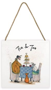 Tavla i trä Sam Toft - Tea for Two