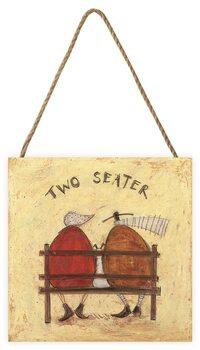 Tavla i trä Sam Toft - Two Seater
