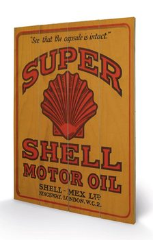 Målning på trä Shell - Adopt The Golden Standard, 1925
