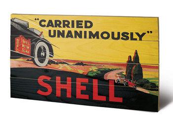 Målning på trä Shell - Carried Unanimously, 1923