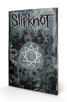 Målning på trä Slipknot - Pentagram