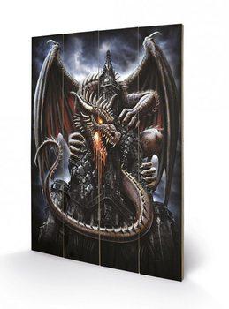 Målning på trä Spiral - Dragon Lava
