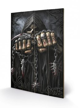 Målning på trä Spiral - Game Over - Reaper