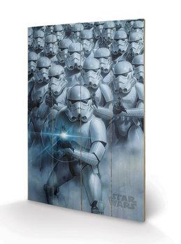 Målning på trä Star Wars - Stormtroopers