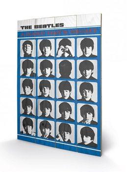 Målning på trä The Beatles - A Hard Day's Night